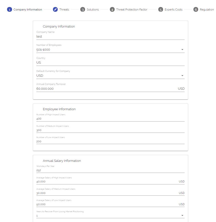INPUTTING company info in boardish